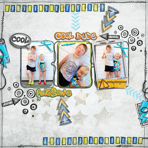 Digital scrapbook layout created with the FREE digital scrapbooking template from Kate Hadfield Designs! | layout by Madlen