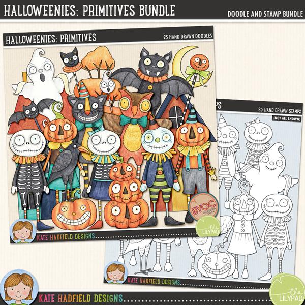 Halloweenies: Primitive Bundle by Kate Hadfield