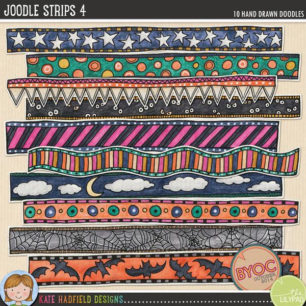 Joodle Strips 4 by Kate Hadfield