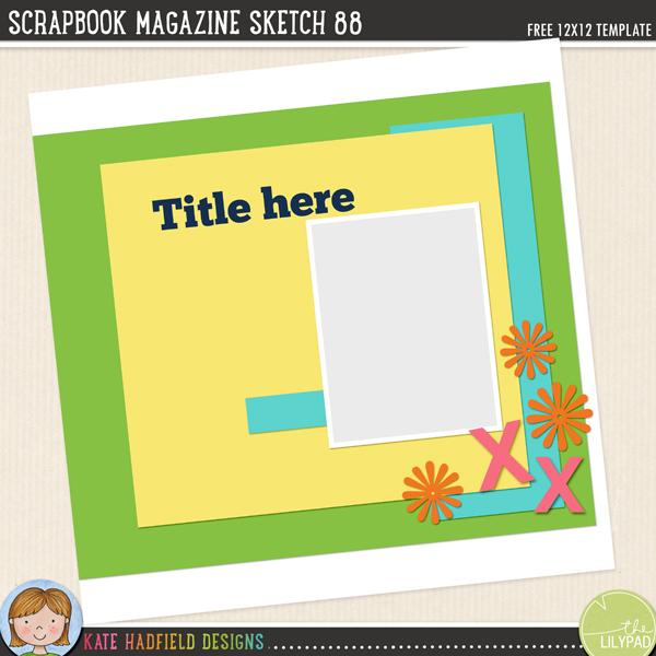 Scrapbook Magazine Sketch 88