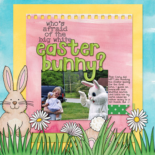 """""""Easter Bunny"""" Easter scrapbook layout ideas 