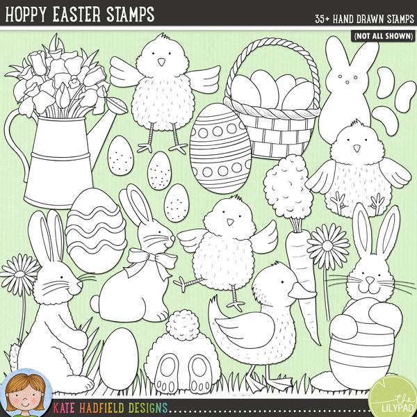 Hoppy Easter Stamps
