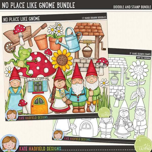 No Place Like Gnome Bundle by Kate Hadfield