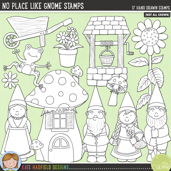 Place Place Like Gnome Stamps by Kate Hadfield