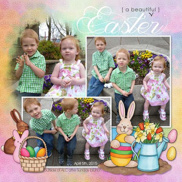 """""""A Beautiful Easter"""" scrapbook layout ideas 