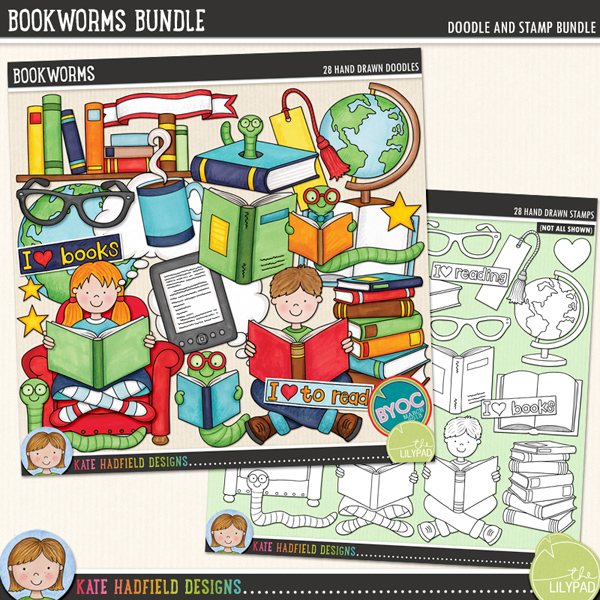 Bookworms Bundle by Kate Hadfield Designs