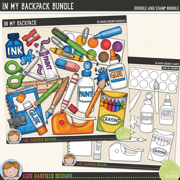 In My Backpack Bundle by Kate Hadfield Designs