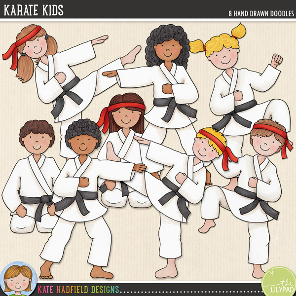 Karate Kids doodles by Kate Hadfield Designs