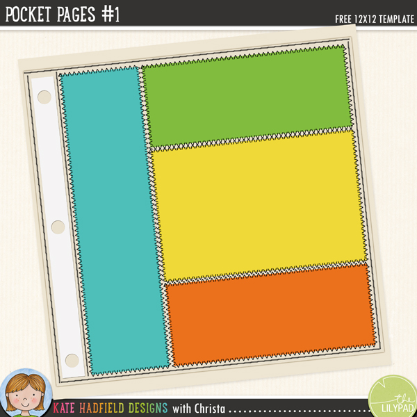 Pocket Pages 1 FREEBIE template by Kate Hadfield and Christa