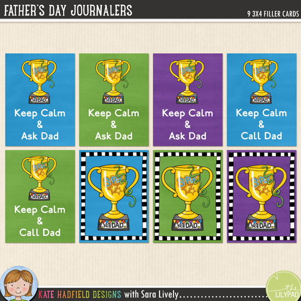 FREE Father's Day Journalers by Kate Hadfield and Sara Lively