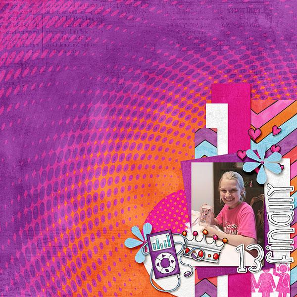KATE HADFIELD DESIGNS Scrap Like: Mrs Peel blog challenge layout by Bethany