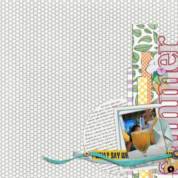 July Blog Challenge inspiration layout by Cynthia