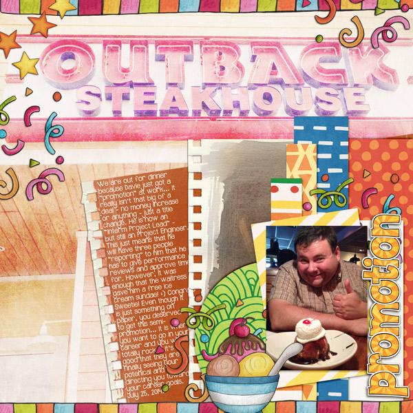 KATE HADFIELD DESIGNS Scrap Like: Mrs Peel blog challenge layout by Rebecca
