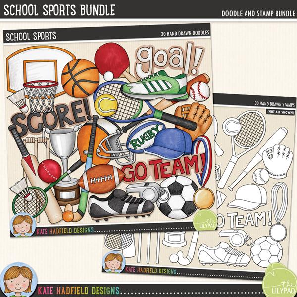 School Sports Bundle by Kate Hadfield Designs