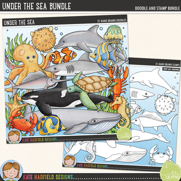 Under the Sea Bundle by Kate Hadfield Designs