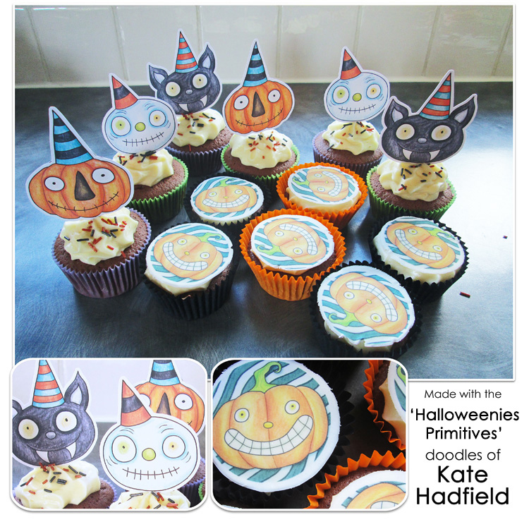 Hybrid Halloween Cupcake Toppers by Sara Lively and Kate Hadfield