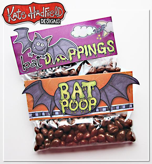 Bat Poop Bag Toppers FREEBIE from Kate Hadfield Designs