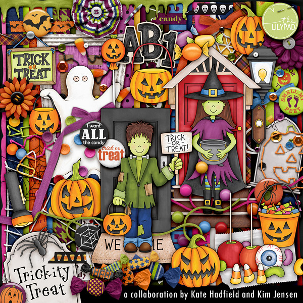 Trickity Treat collaboration kit by Kate Hadfield and Kim Jensen, exclusively at The Lilypad!
