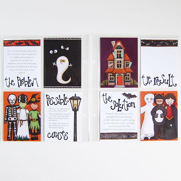"Kate Hadfield Designs design team ""My favourite Halloween layout"" by Melanie"