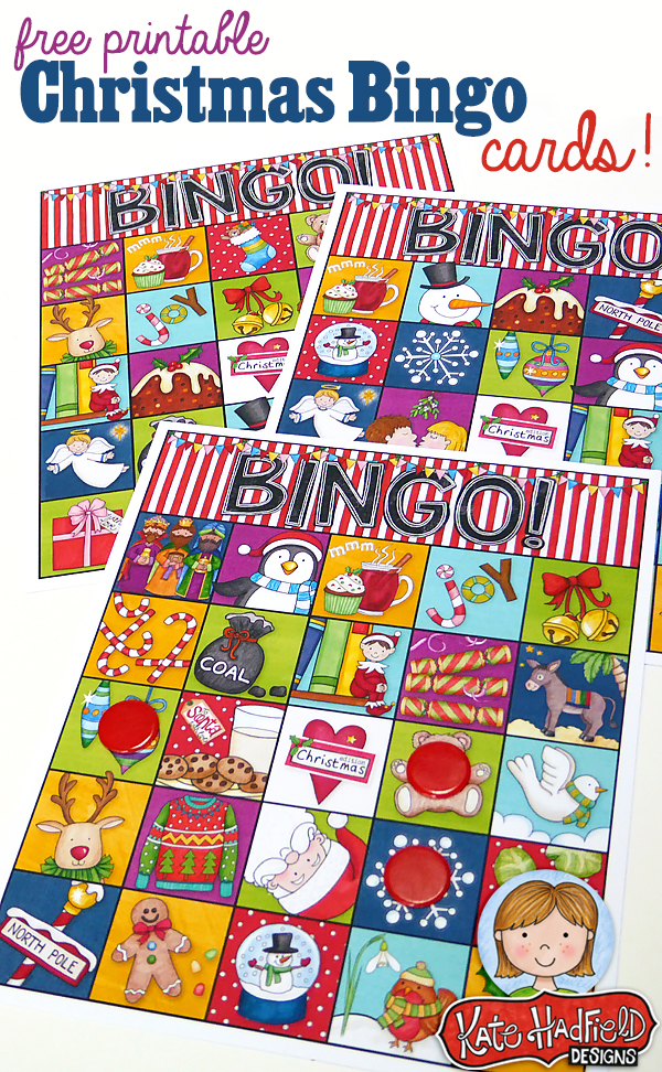 free printable christmas bingo cards from kate hadfield designs cute bingo cards that will be