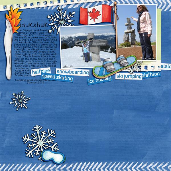 Kate Hadfield Designs Creative Team winter favourites: layout by Berniek