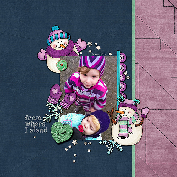 Kate Hadfield Designs Creative Team winter favourites: layout by Lorry