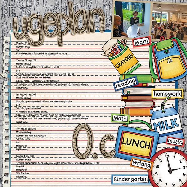 school digital scrapbook page
