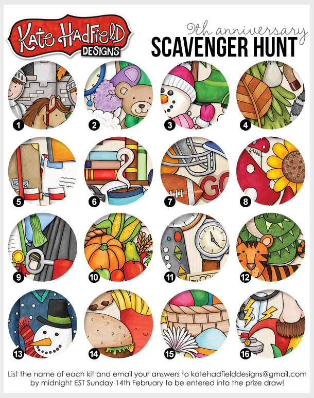 Kate Hadfield Designs Anniversary Scavenger Hunt 2016