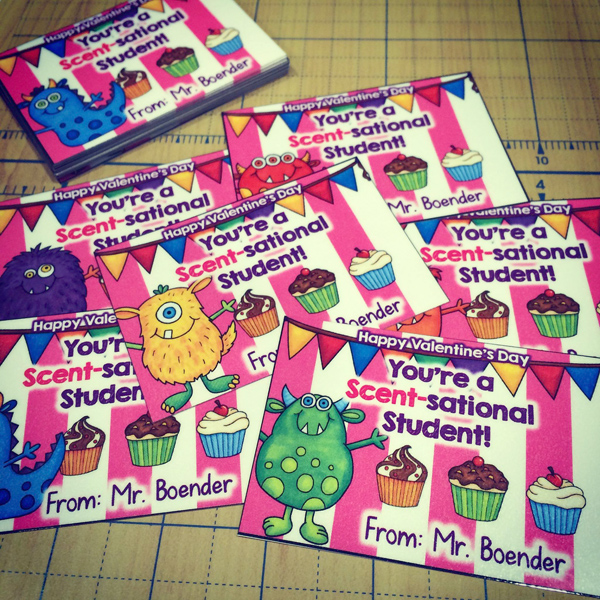 Kate Hadfield Designs Teacher Team inspiration   Male Kindergarten Teacher Scent-sational Valentines