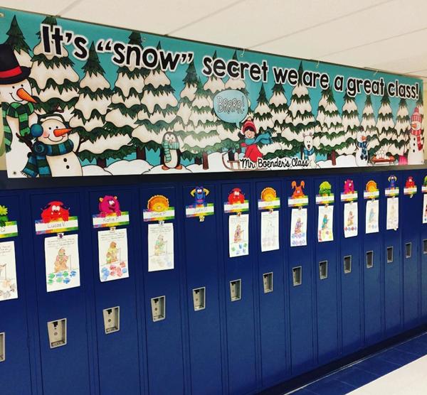 Kate Hadfield Designs Teacher Team inspiration   Male Kindergarten Teacher locker banner