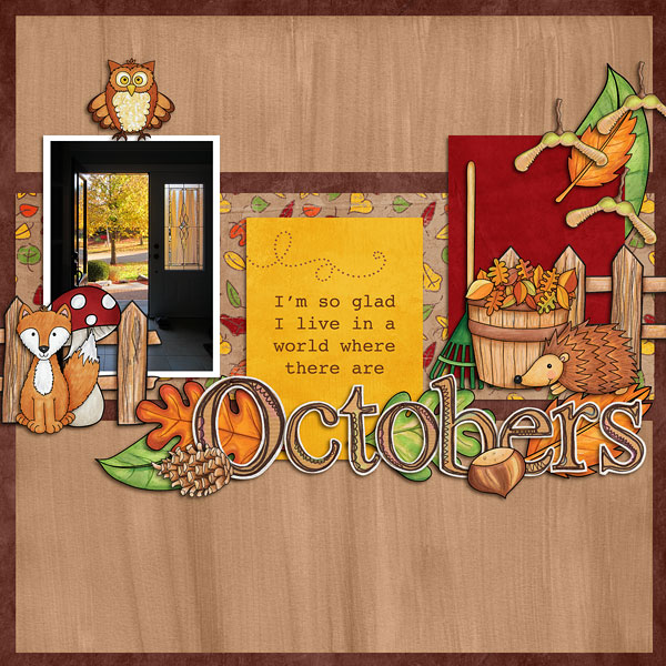 """Kate Hadfield Designs creative team """"Doodled Paper Alphabet"""" layout by Melanie"""