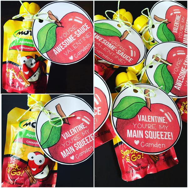 Primary Punch Applesauce Valentines Gift Tag
