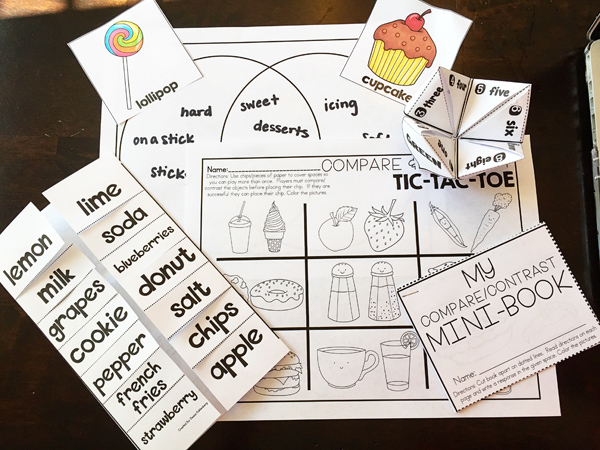 Kate Hadfield Designs Teacher Team inspiration   Primary Punch ~ Compare and Contrast activity