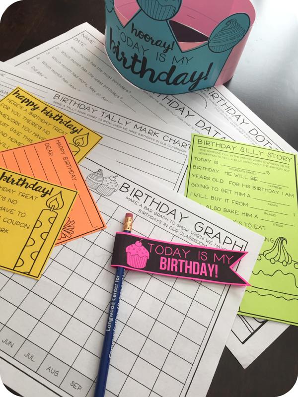 Kate Hadfield Designs Teacher Team inspiration | Primary Punch ~ No Prep Birthday Printables