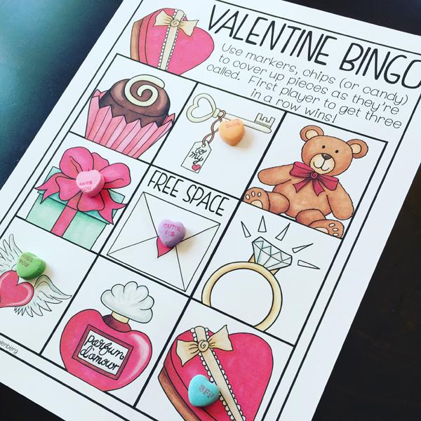 Kate Hadfield Designs Teacher Team inspiration | Primary Punch ~ Valentine Bingo game cards