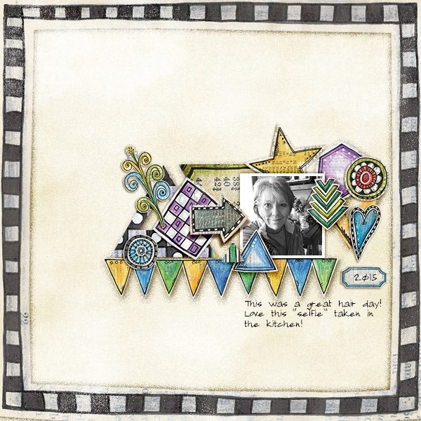 "Kate Hadfield Designs creative team layout: ""Scrap Like Keela"" free template! Layout by Christa"
