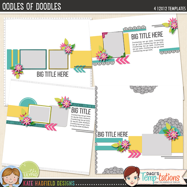 Oodles of Doodles templates by Kate Hadfield and Dagi's Temp-tations