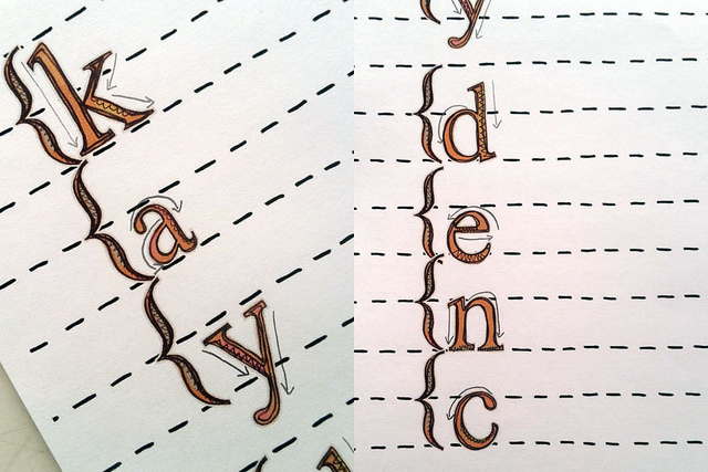 """Kate Hadfield Designs creative team """"Doodled Paper Alphabet"""" hybrid project by Kristina"""