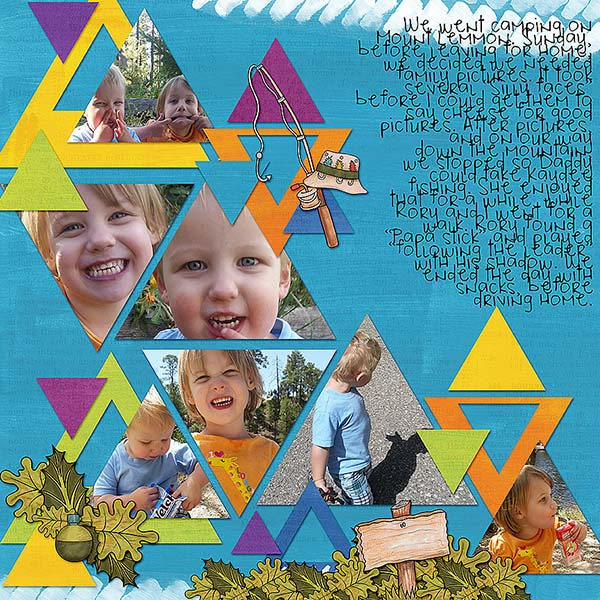"Kate Hadfield Designs creative team layout: ""Scrap Like Keela"" free template! Layout by Kristina"