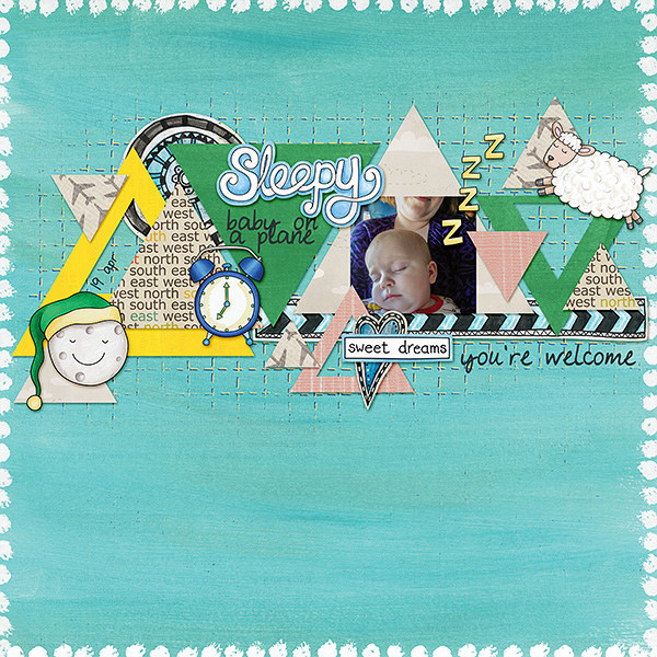 "Kate Hadfield Designs creative team layout: ""Scrap Like Keela"" free template! Layout by Lorry"