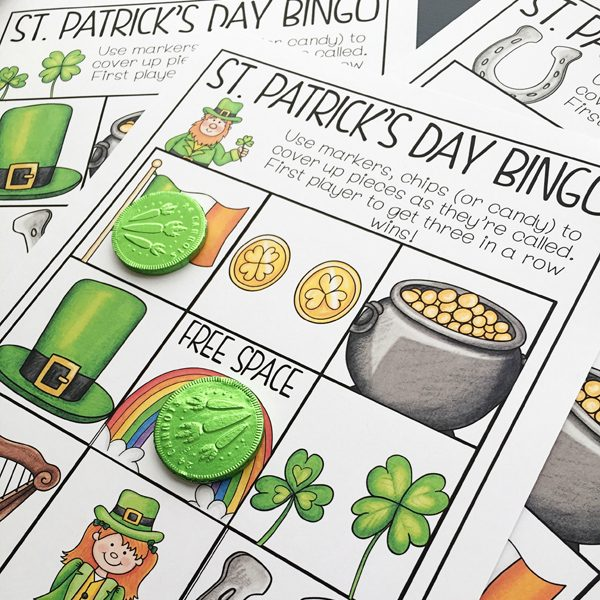 St Patrick's Day Bingo game created by Primary Punch | katehadfielddesigns