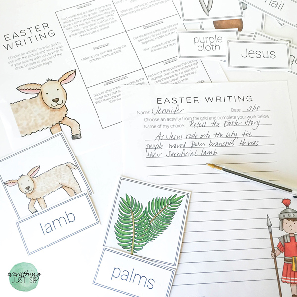 Easter Writing activity and printables by Everything Just So   Kate Hadfield Designs