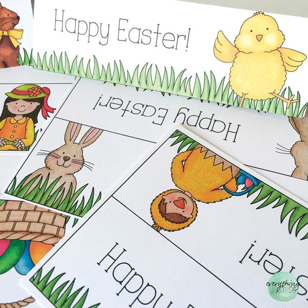 Easter Writing activity and printables by Everything Just So