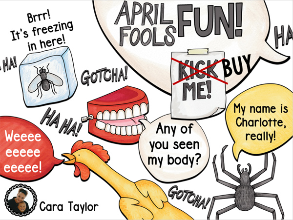 April Fool's Day activities by Cara's Creative Playground | Kate Hadfield Designs