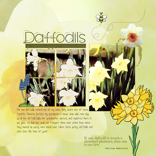 Kate Hadfield Designs Creative Team favourite spring project: layout by Christa
