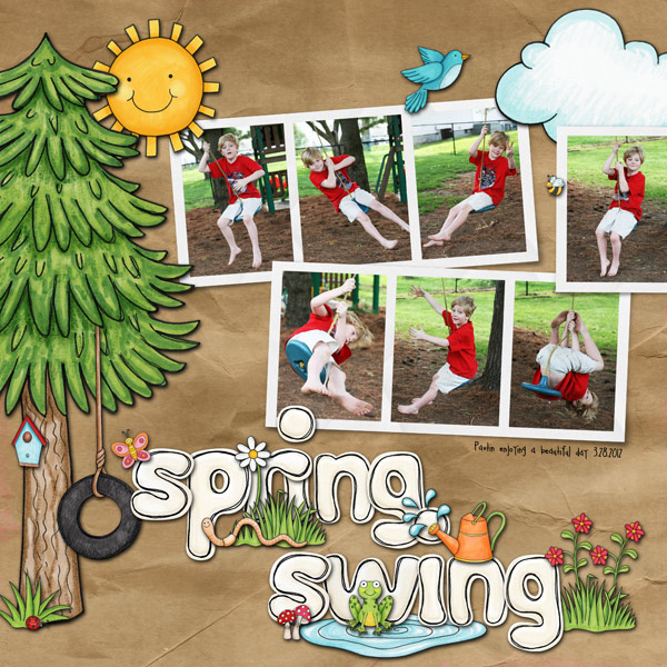 Kate Hadfield Designs Creative Team favourite spring project: layout by Keela