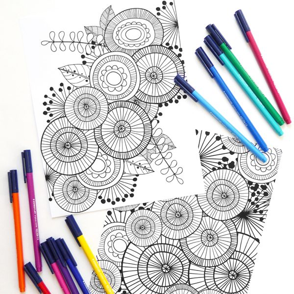 FREE Art Joodle Colouring Pages from Kate Hadfield Designs
