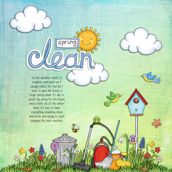 Kate Hadfield Designs Creative Team favourite spring project: layout by Kirstie