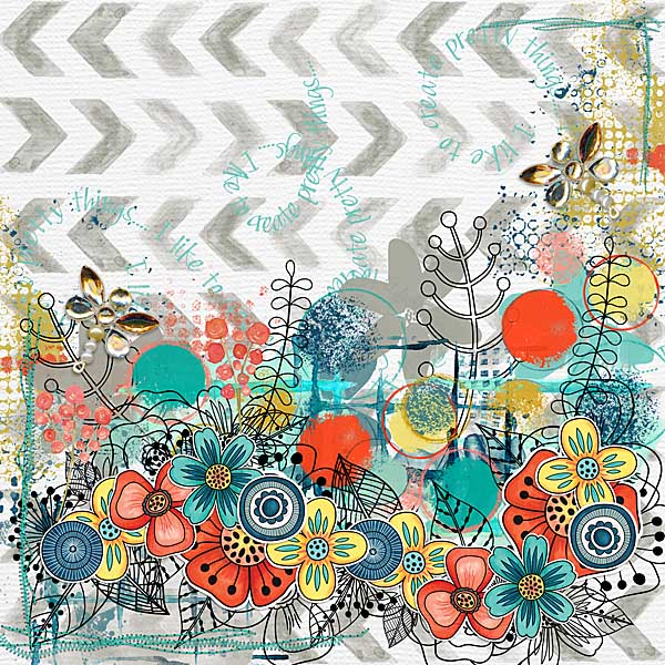 Kate Hadfield Designs Creative Team favourite spring project: layout by Kristina