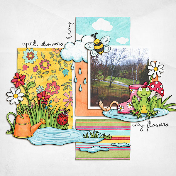Kate Hadfield Designs Creative Team favourite spring project: layout by Melanie